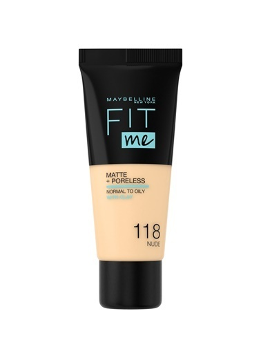 Maybelline Fit Me Matte+Poreless Fondöten - 118 Nude Ten